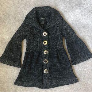 Pure Handknit Cardigan Bell Sleeves